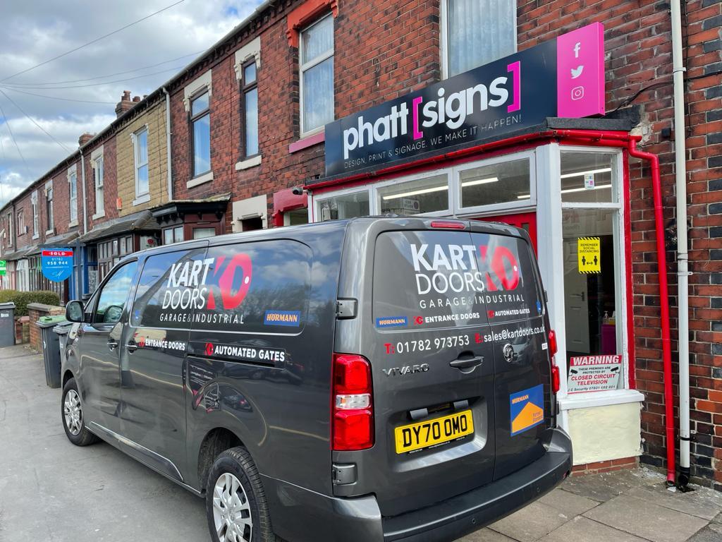 Kart Doors Van Signage