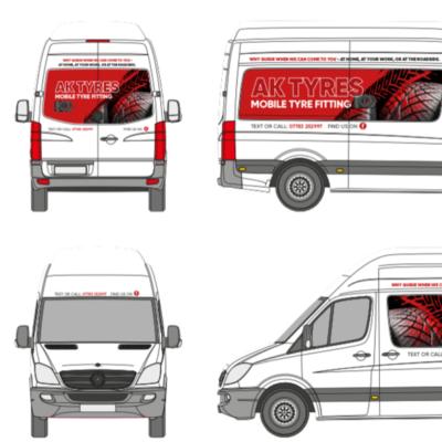 AK Tyres Van Design